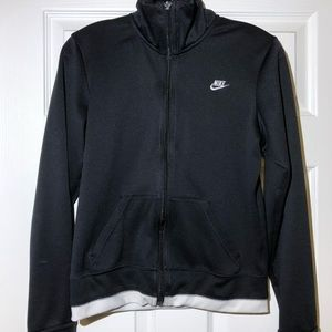 Black and white nike workout sweater
